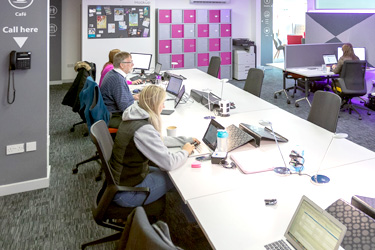 Shared office space at Falkirk Business Hub, Falkirk
